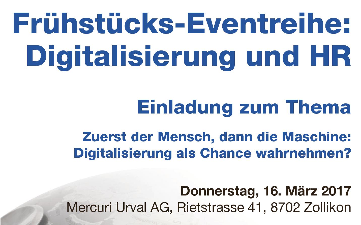 """Jetzt anmelden: Frühstücksevent """"Digitalisierung und HR"""""""